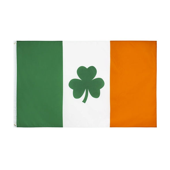 Saint Patrick's Day Clover Ireland Shamrock 3' x 5' Flag.