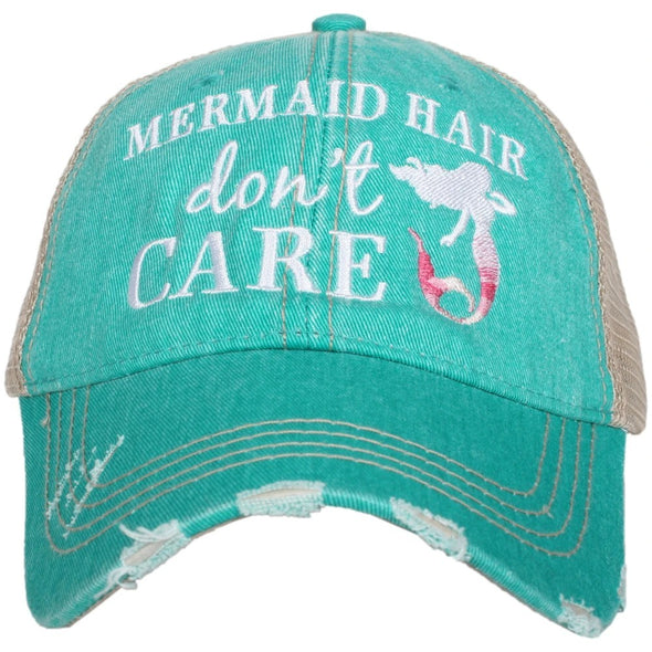 Katydid Women's Mermaid Hair Don't Care Teal Cap.