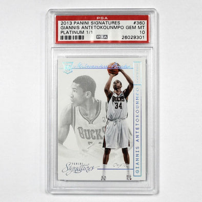 Collectibles 2013 Panini Signatures Giannis Antetokounmpo Platinum 1 of 1 PSA GEM MT 10 - Shop The DocksCollectibles Collectibles