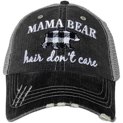Katydid Women's Mama Bear Hair Don't Care Gray Cap.