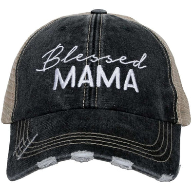Katydid Women's Blessed Mama Black Cap.