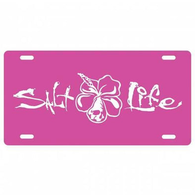 Gifts Salt Life Signature Hibiscus License Plate - Shop The DocksSalt Life Gifts