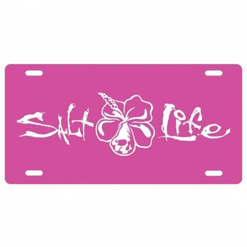Car Tag Salt Life Signature Hibiscus License Plate - Shop The DocksSalt Life Car Tag