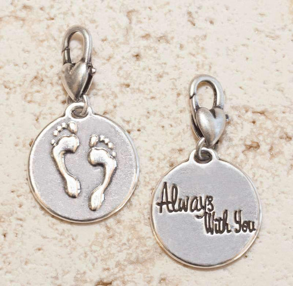 Jewelry Amanda Blu Silver 2-Tone Charm - Footprints - Shop The DocksAmanda Blu Jewelry