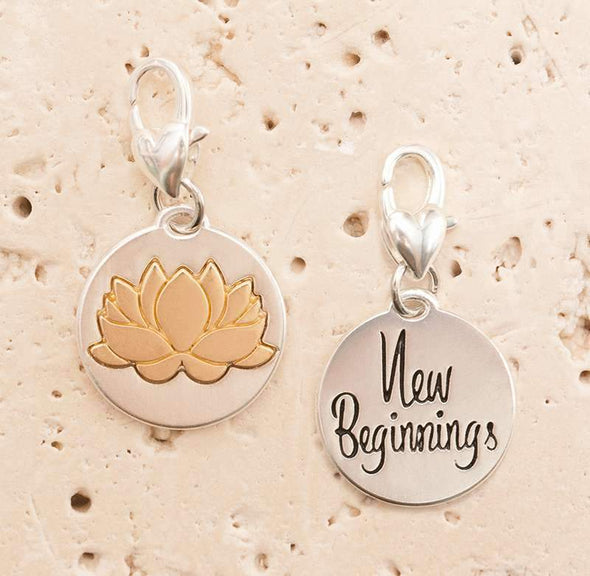 Jewelry Amanda Blu Silver 2-Tone Charm - Lotus - Shop The DocksAmanda Blu Jewelry