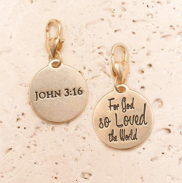 Jewelry Amanda Blu Gold 1-Tone Charm - John 3:16 - Shop The DocksAmanda Blu Jewelry