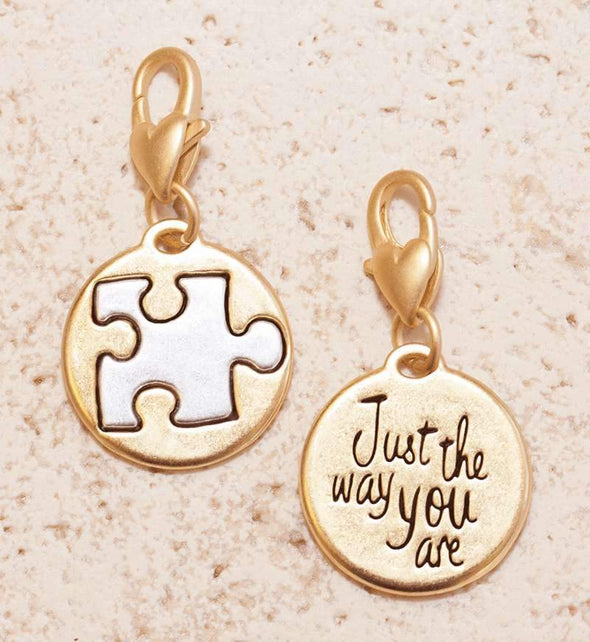 Jewelry Amanda Blu Gold 2-Tone Charm - Puzzle Piece - Shop The DocksAmanda Blu Jewelry