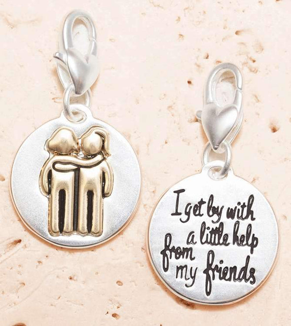 Jewelry Amanda Blu Silver 2-Tone Charm - Girlfriends - Shop The DocksAmanda Blu Jewelry