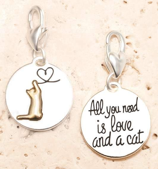 Jewelry Amanda Blu Silver 2-Tone Charm - Cat - Shop The DocksAmanda Blu Jewelry