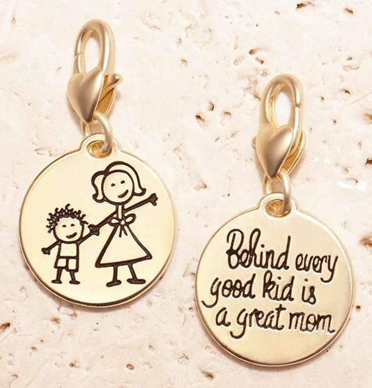 Jewelry Amanda Blu Gold 1-Tone Charm - Mother Child - Shop The DocksAmanda Blu Jewelry