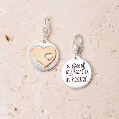 Jewelry Amanda Blu Silver 2-Tone Charm - A Piece Of My Heart - Shop The DocksAmanda Blu Jewelry