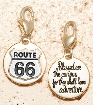 Jewelry Amanda Blu Gold 2-Tone Charm - Route 66 - Shop The DocksAmanda Blu Jewelry
