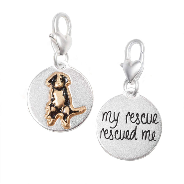 Jewelry Amanda Blu Silver 2-Tone Charm - Mutt My Rescue - Shop The DocksAmanda Blu Jewelry