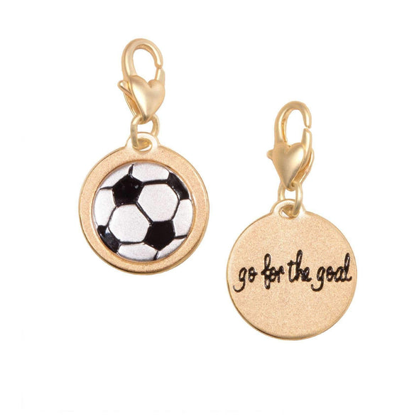 Jewelry Amanda Blu Gold 2-Tone Charm - Soccer Ball - Shop The DocksAmanda Blu Jewelry