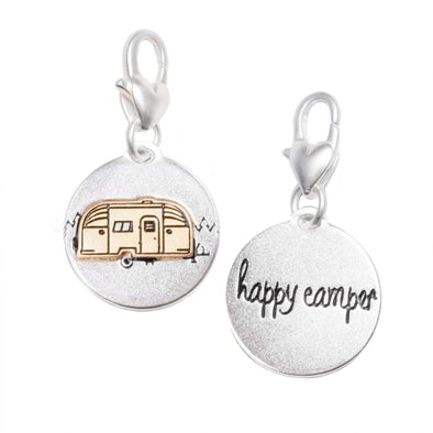 Jewelry Amanda Blu Silver 2-Tone Charm - Airstream Happy Camper - Shop The DocksAmanda Blu Jewelry