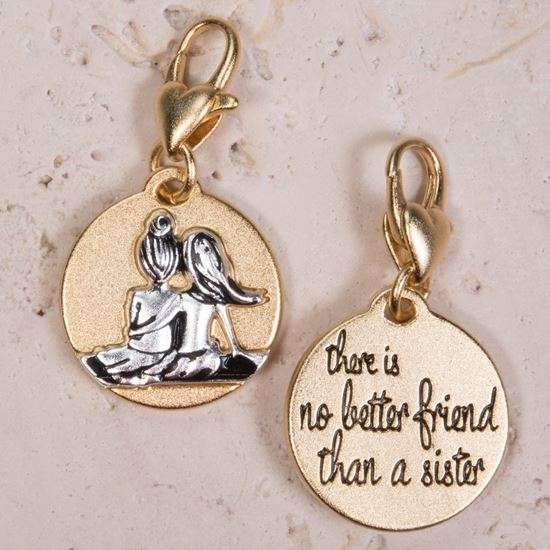 Jewelry Amanda Blu Gold 2-Tone Charm - Sister Friends - Shop The DocksAmanda Blu Jewelry