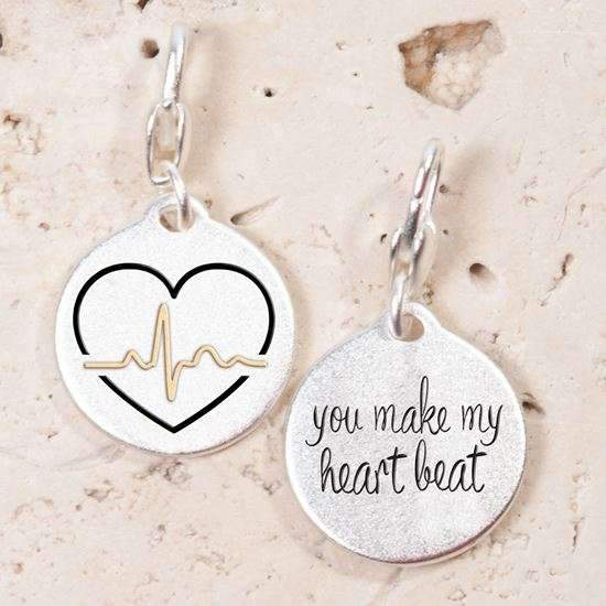 Jewelry Amanda Blu Silver 2-Tone Charm - Heartbeat - Shop The DocksAmanda Blu Jewelry