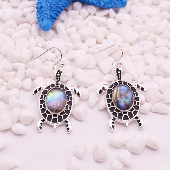Jewelry Stainless Steel Turtle Abalone Shell Drop Earrings - Shop The DocksEarrings Under $10 Jewelry
