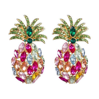 Jewelry Colorful Crystal Rhinestone Pineapple Post Earrings - Shop The DocksEarrings Under $20 Jewelry
