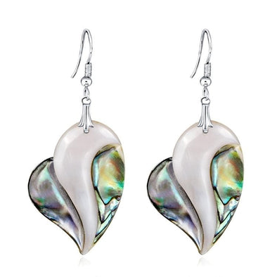 Jewelry Genuine Abalone Shell Heart Shape Dangle Earrings - Shop The DocksEarrings Under $20 Jewelry