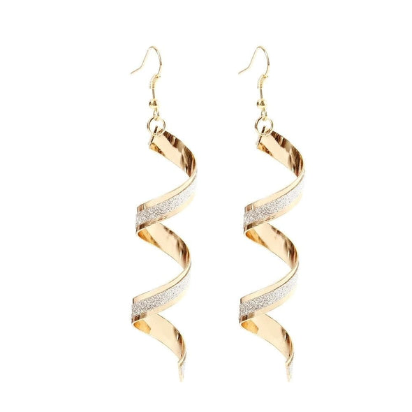 Jewelry Lightweight Gold Spiral Frosted Dangle Earrings - Shop The DocksEarrings Under $10 Jewelry