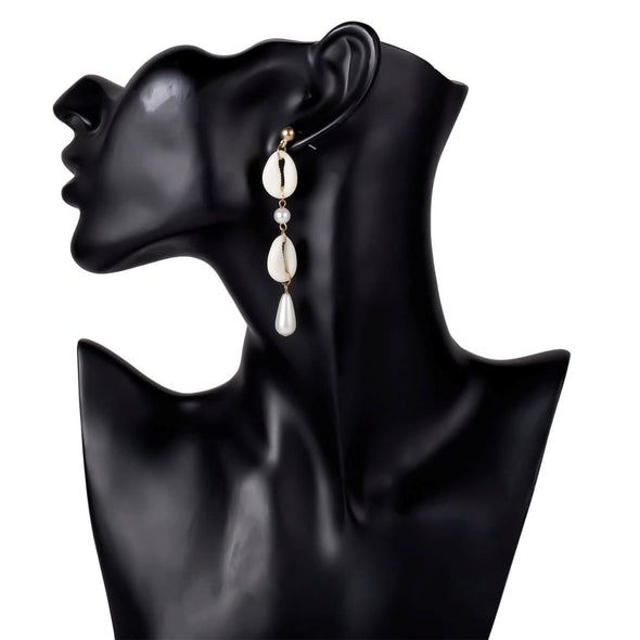 Jewelry Imitation Cowrie Shell & Pearl Dangle Post Earrings - Shop The DocksEarrings Under $10 Jewelry