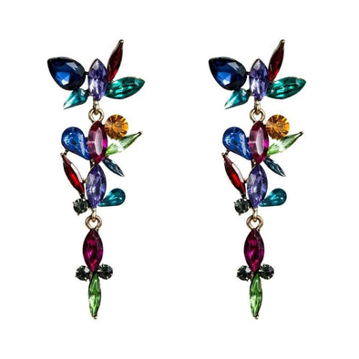 Jewelry Multi Color Crystal Rhinestone Long Drop Earrings - Shop The DocksEarrings Under $20 Jewelry