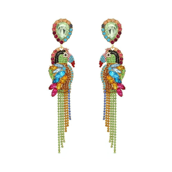 Jewelry Exquisite Crystal Rhinestone Colorful Parrot Earrings - Shop The DocksEarrings Under $20 Jewelry