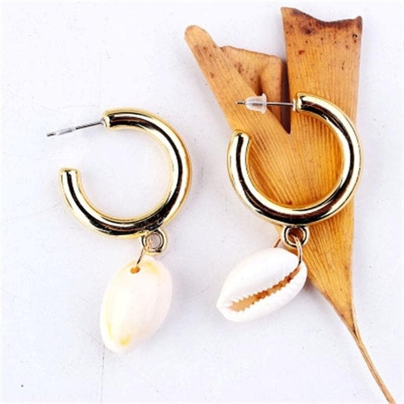 Jewelry Hoop Cowrie Sea Shell Earrings Gold - Shop The DocksEarrings Under $10 Jewelry