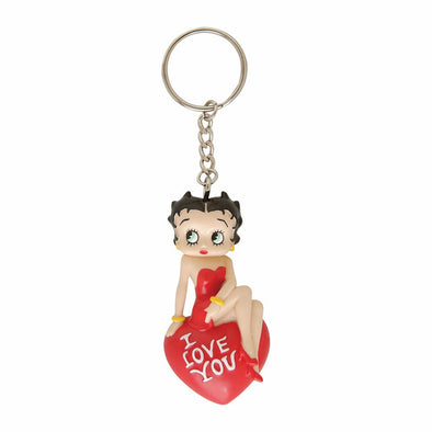 Betty I Love You 3D Betty Boop Key Chain.