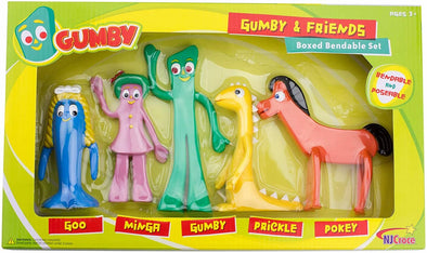 NJ Croce Gumby And Friends Bendable 5 Piece Box