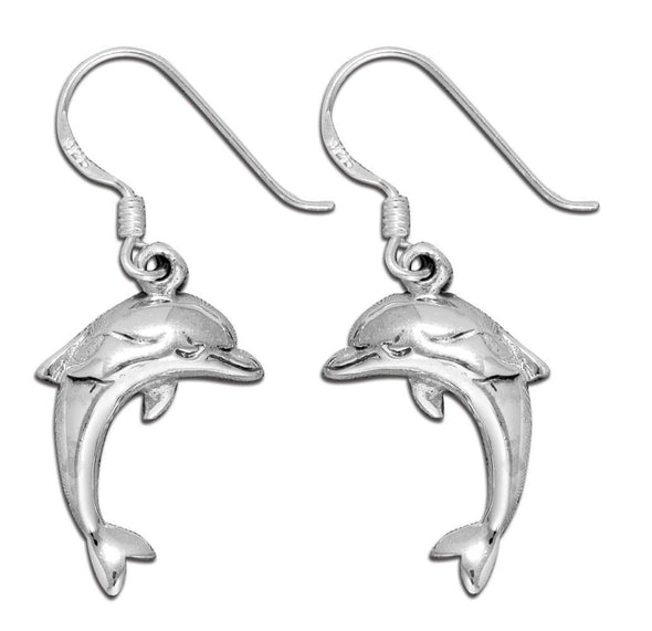 Jewelry Sterling Silver 3D Dolphin Hook Dangle Earrings - Shop The DocksMona Ann Designs Jewelry