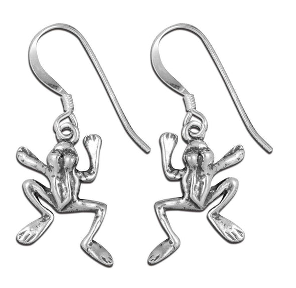 Jewelry Sterling Silver Frog Hook Dangle Earrings - Shop The DocksMona Ann Designs Jewelry