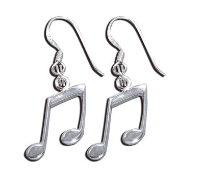 Jewelry Sterling Silver Double Quaver Musical Note Hook Dangle Earrings - Shop The DocksMona Ann Designs Jewelry