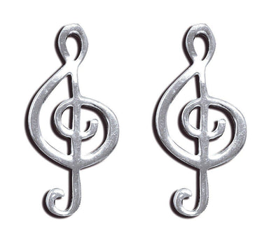 Jewelry Sterling Silver Dainty Treble Clef Musical Note Post Earrings - Shop The DocksMona Ann Designs Jewelry