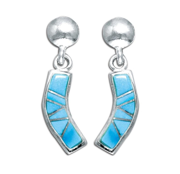 Jewelry Silver With Genuine Turquoise Inlay Post Earrings - Shop The DocksMona Ann Designs Jewelry