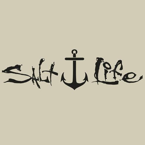 Decal Salt Life Signature Anchor Decal - Shop The DocksSalt Life Decal