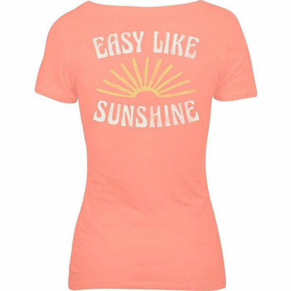 Apparel Salt Life Women's Easy Like Sunshine Scoop Neck Short Sleeve Shirt - Shop The DocksSalt Life Apparel