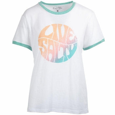 Apparel Salt Life Women's Groovy Ringer Tri-Blend Boyfriend Tee Shirt - Shop The DocksSalt Life Apparel
