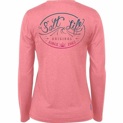 Apparel Salt Life Women's Original Wave Long Sleeve Performance Tee Shirt - Shop The DocksSalt Life Apparel