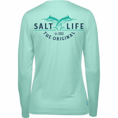 Apparel Salt Life Women's Original Life Long Sleeve Performance Tee Shirt - Shop The DocksSalt Life Apparel