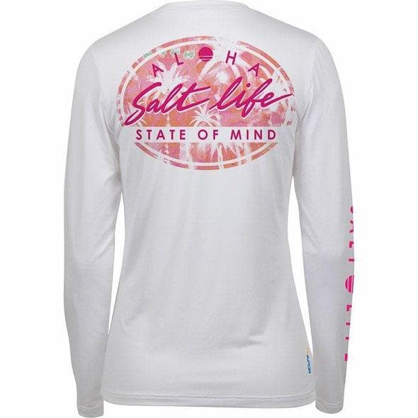 Apparel Salt Life Women's Oasis Badge Long Sleeve Performance Tee Shirt - Shop The DocksSalt Life Apparel
