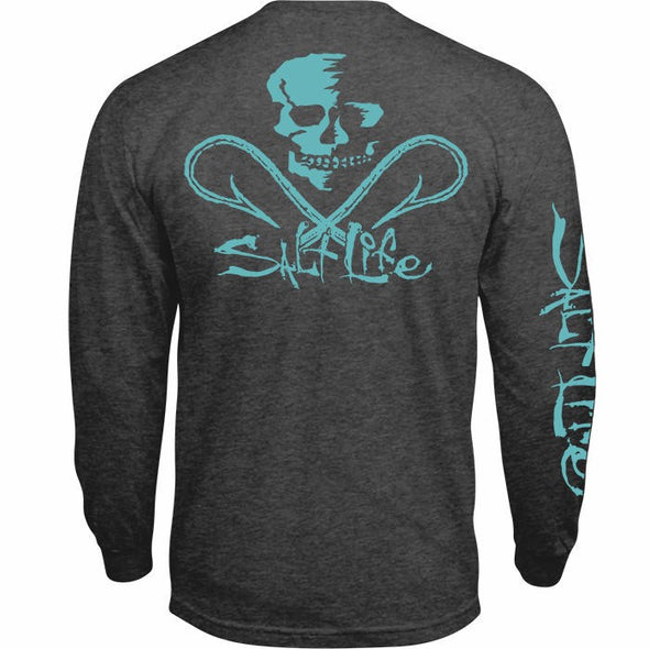 Salt Life Men's Skull & Hooks Long Sleeve Shirt.