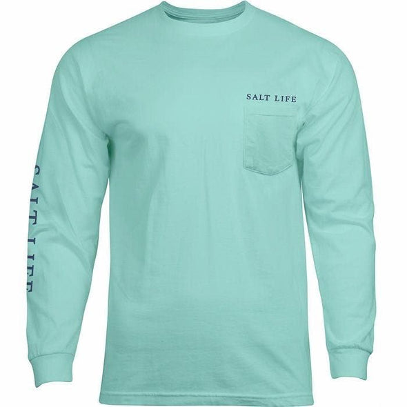 Apparel Salt Life Men's Reeling Reds Long Sleeve Pocket Tee Shirt - Shop The DocksSalt Life Apparel