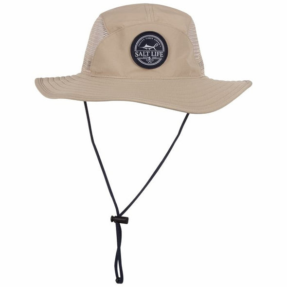 Salt Life Men's Starboard Performance Dark Khaki Boonie Hat.