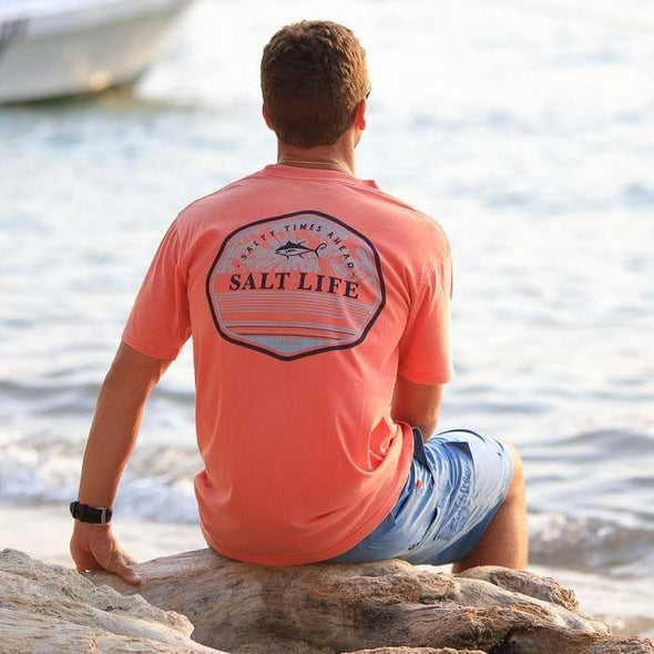 Apparel Salt Life Men's The Point Salt Wash Pocket Tee Shirt - Shop The DocksSalt Life Apparel