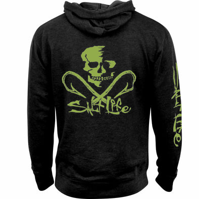 Salt Life Men's Salt Life Skull and Hooks Black Hoodie.