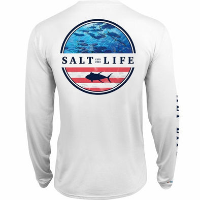 Salt Life Men's Respect Long Sleeve Performance Pocket Tee.