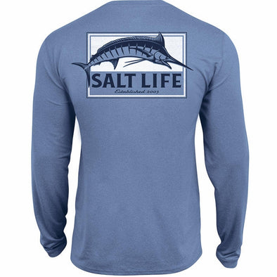 Salt Life Men's Pure Marlin Performance Long Sleeve Pocket Tee.