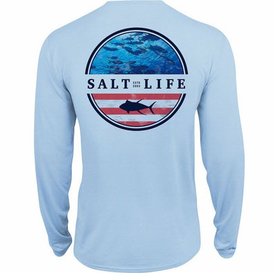 Salt Life Youth Respect Performance Long Sleeve Tee Shirt.